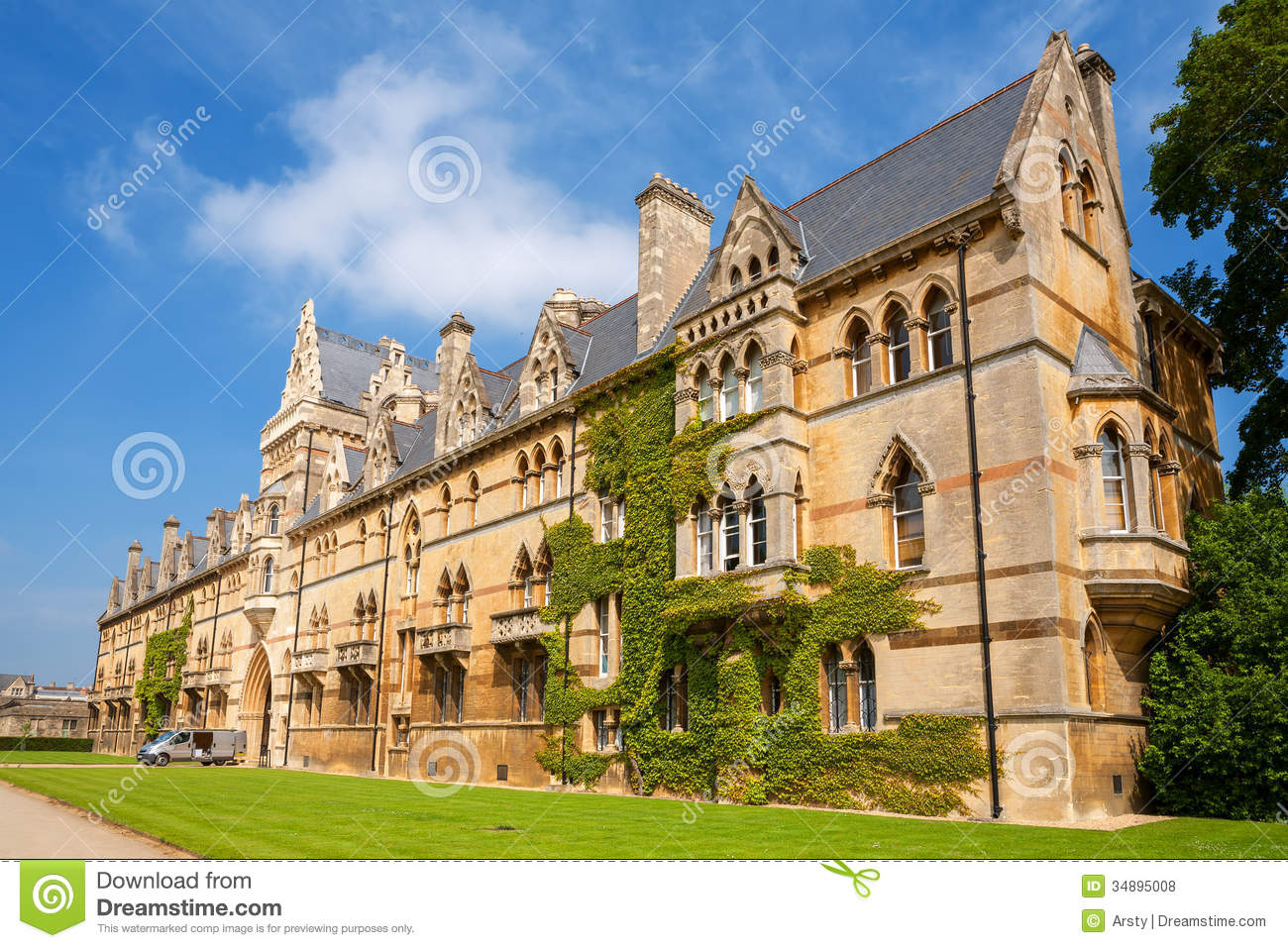 Christ Church College Oxford Royalty Free Stock Photos.