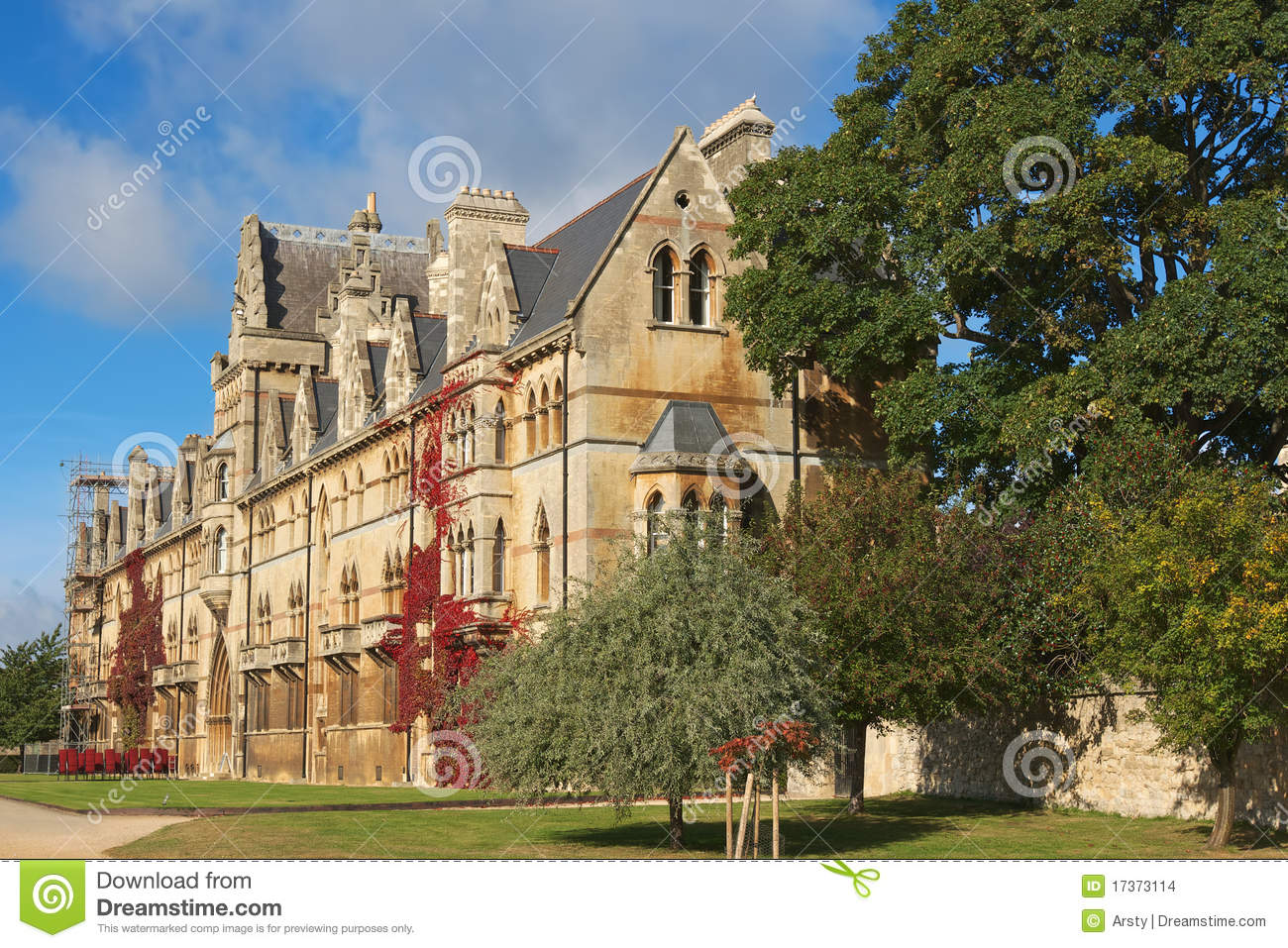 Christ Church College. Oxford, England Stock Images.