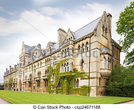 Pictures of Christ Church College, Oxford, Oxfordshire UK.