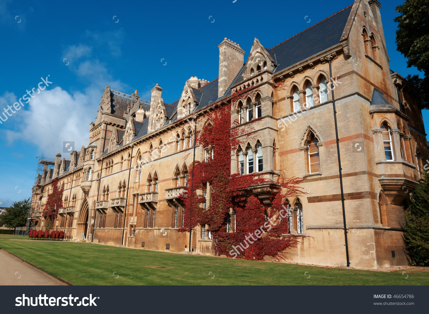 Christ Church College Oxford University Uk Stock Photo 46654786.