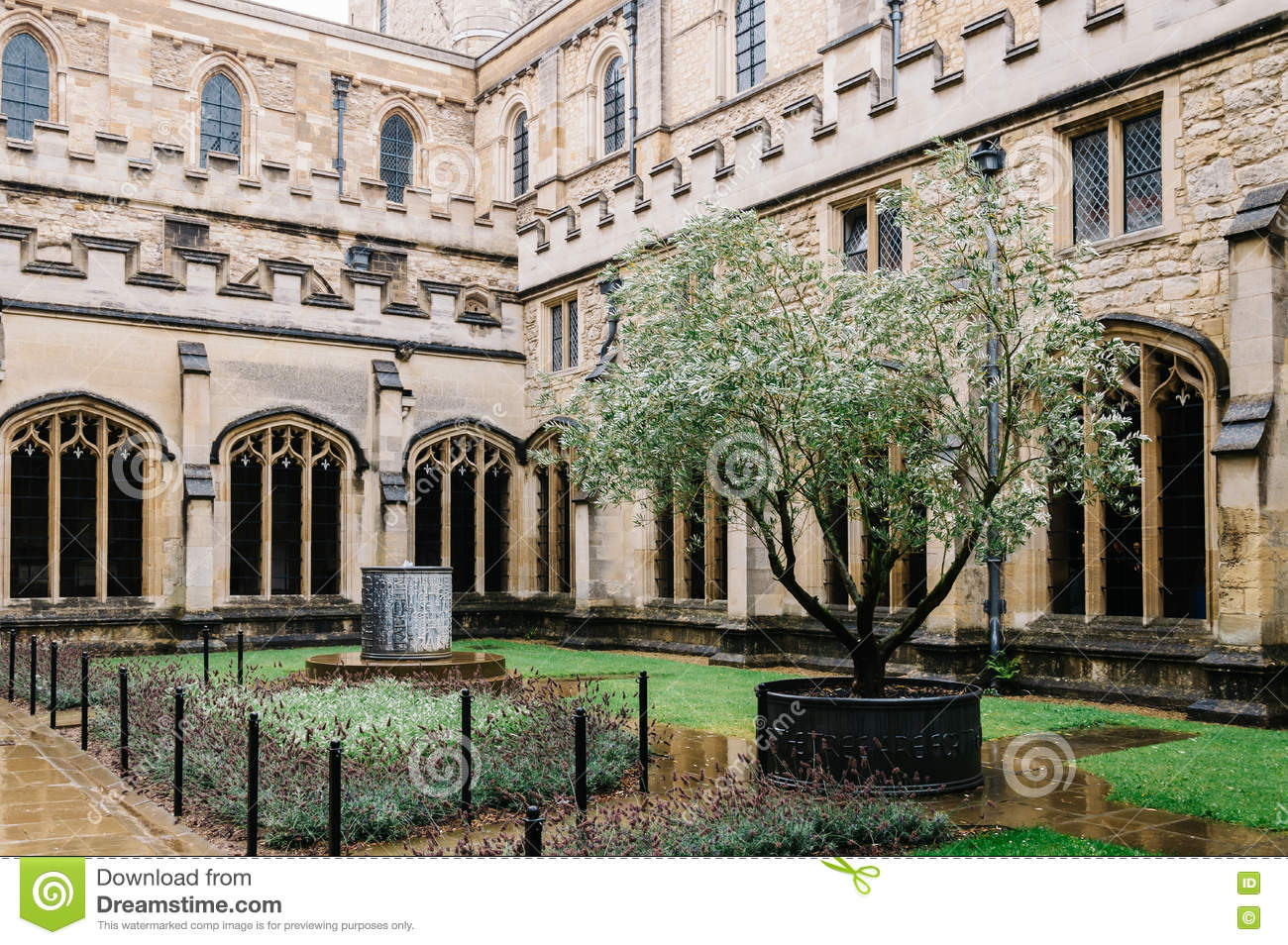 Courtyard In Christ Church College Stock Photo.