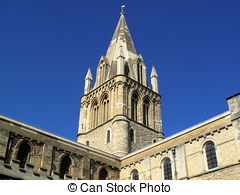 Stock Photo of Dining Tables Christ Church College.