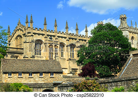 Stock Photography of Christchurch College Oxford Univers.