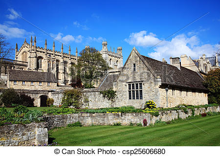 Pictures of Christ Church College Oxford University in Oxfordshire.