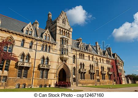 Stock Image of Christ Church college. Oxford, England.
