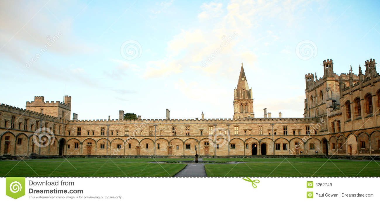 Christ Church College, Oxford Royalty Free Stock Images.