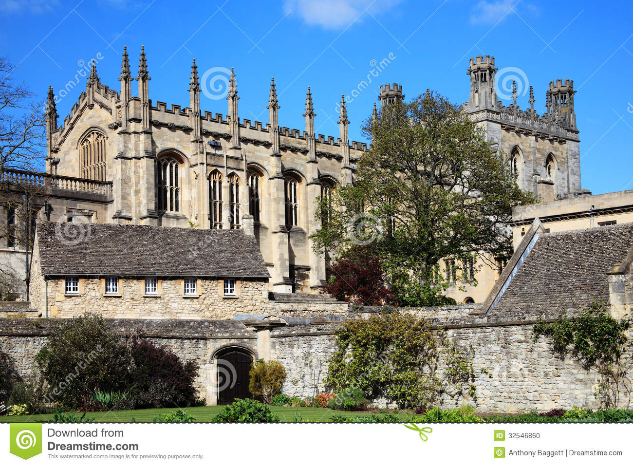 Christ Church College, Oxford University Stock Photo.
