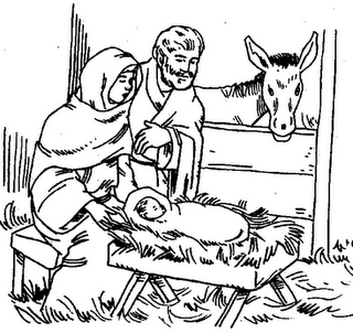 Birth of Jesus Christ Clip Art.