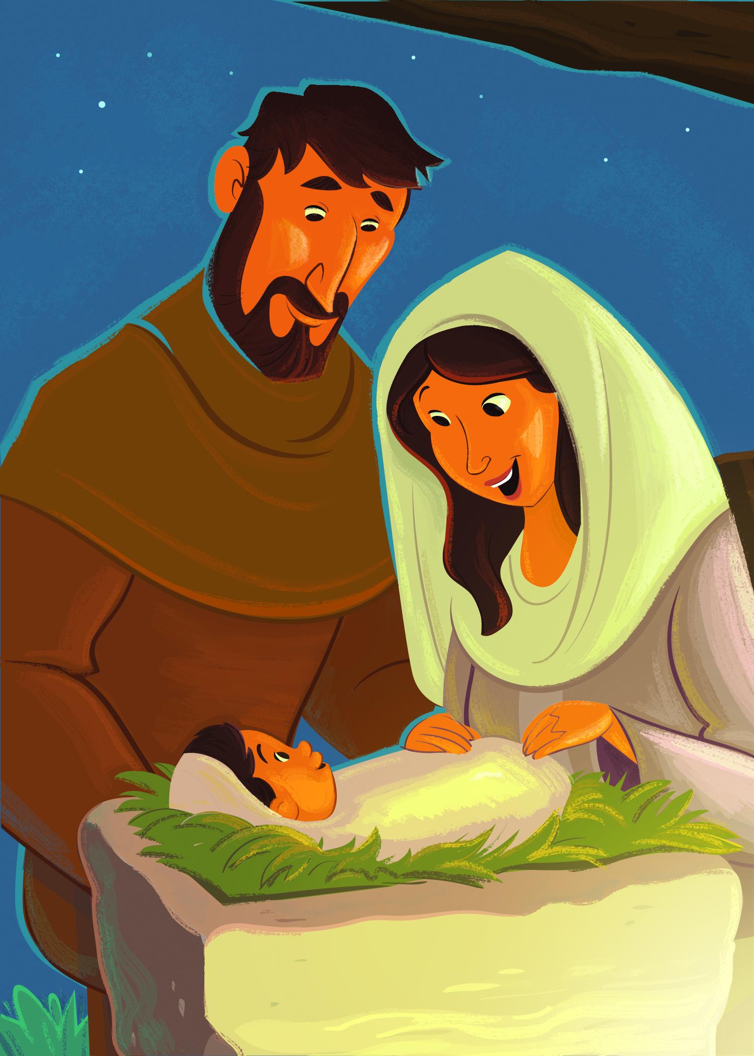 Birth Of Jesus Clipart.