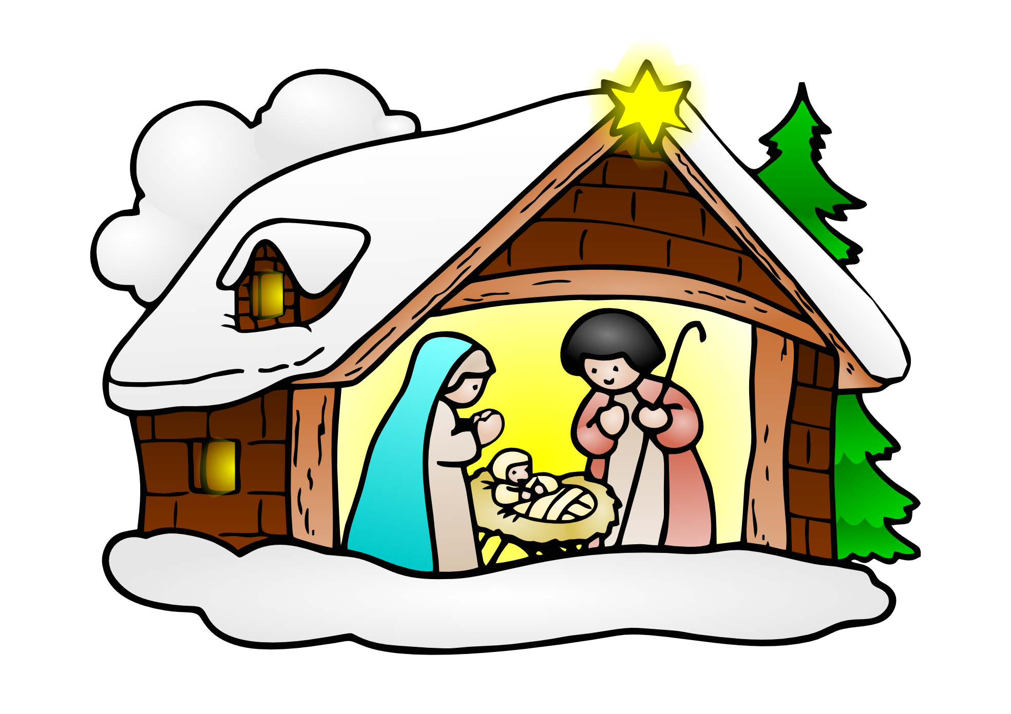 Birth Of Jesus Clipart.