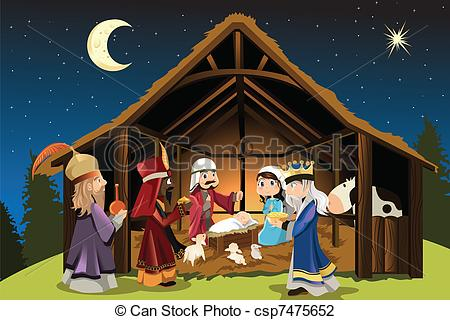 Jesus christ is born clipart.