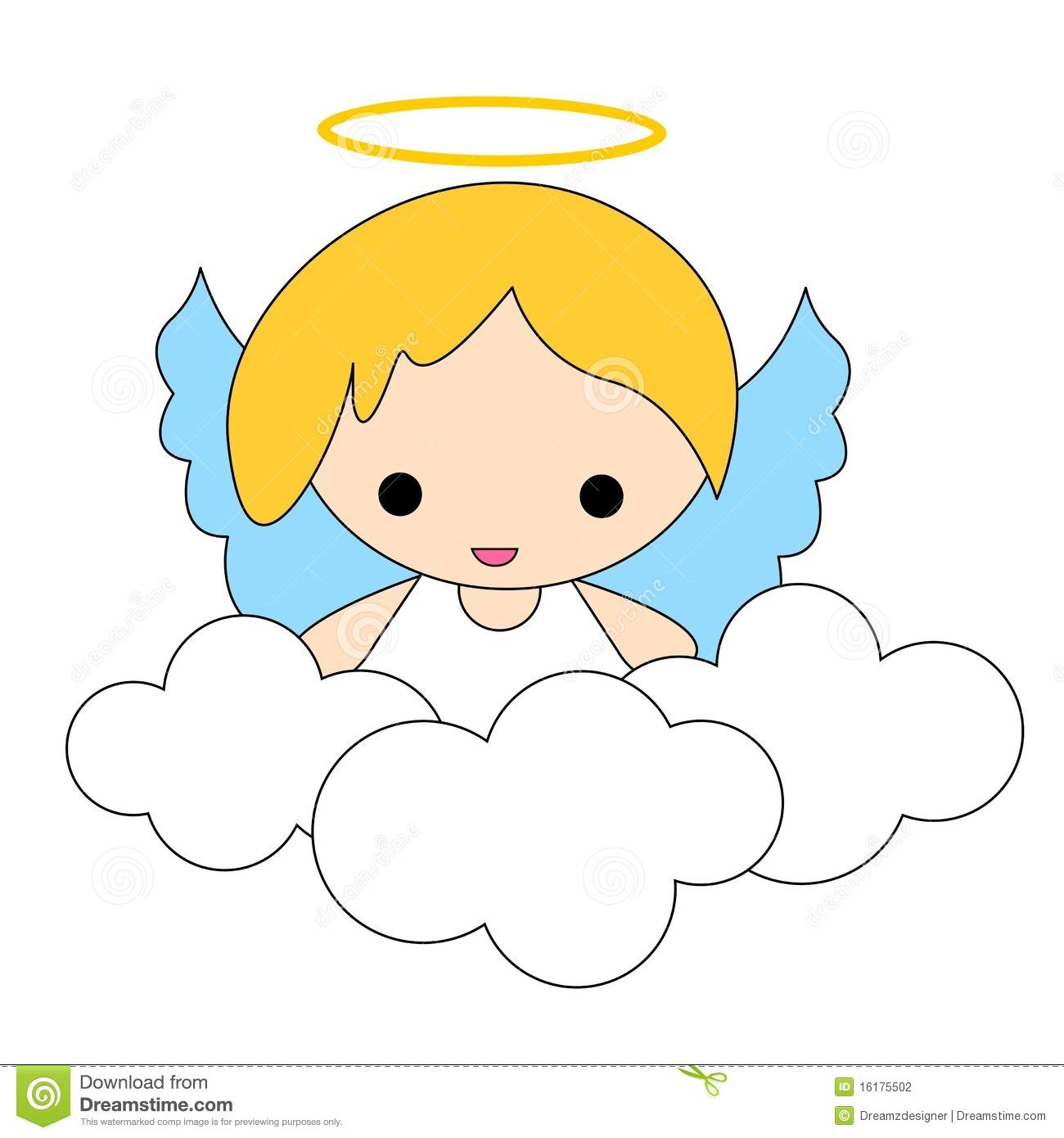 Baptism Symbols Angels Clipart.