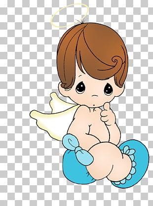 Angel Baptism Boy , christening, boy angel PNG clipart.