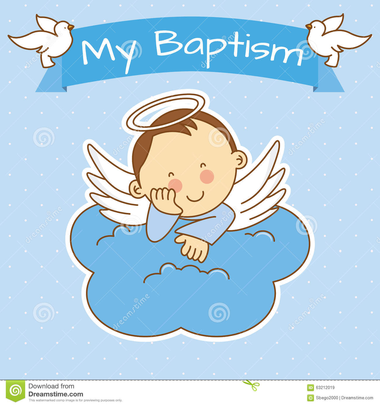 Christening and Baptism Clip Art.
