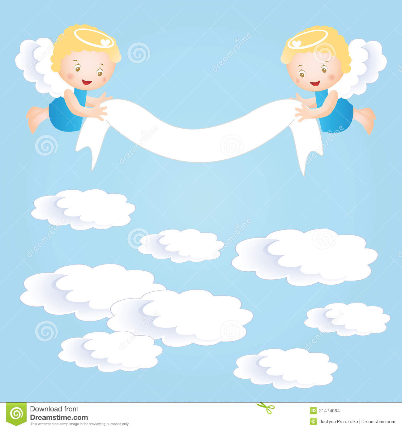 Christening Invitation Clipart.