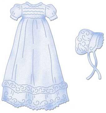 CottageCutz Christening Gown 4x4 Die.