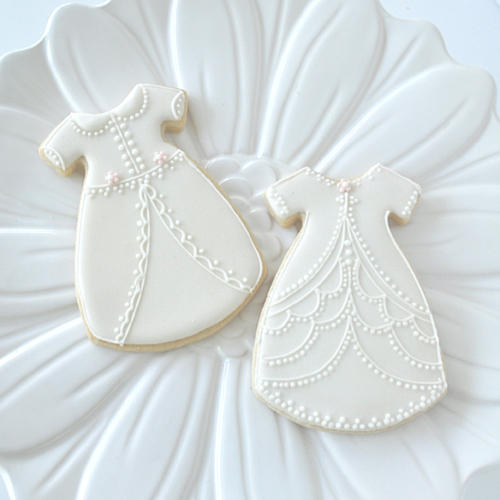Christening Gown Cookies.