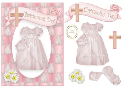 Girl Christening Gown and Bonnet.