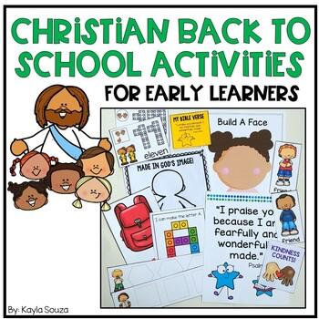 Christian Back To School Activities for Preschool, Pre.