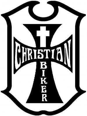 Christian Biker Cross Car or Truck Window Decal Sticker.