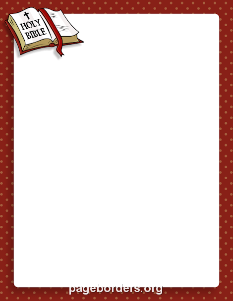 Bible Border: Clip Art, Page Border, and Vector Graphics.