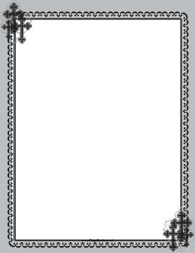 Perfect for Sunday school, this printable Christian border is.