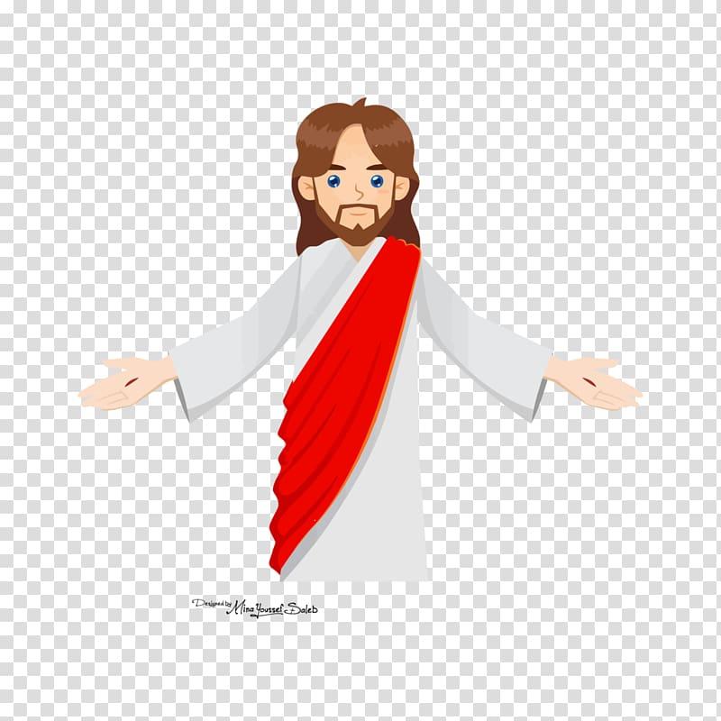 Ascension of Jesus Christ, jesus and children transparent.