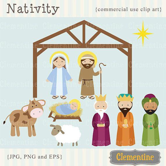 Christmas clip art images, Nativity clip art, Christian clip art.