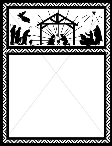 Religious Christmas Clipart Borders.