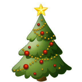Christian Christmas Tree Clipart.