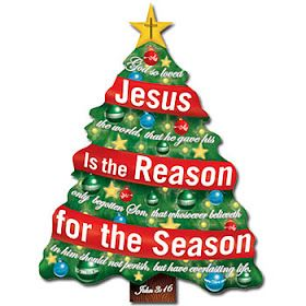 Jesus is the reason for the season words decorated.
