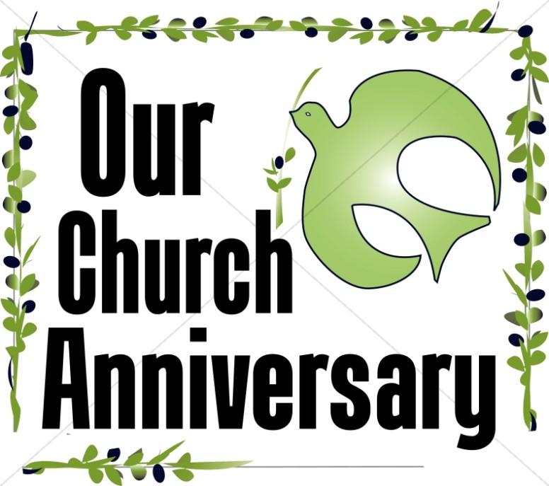 Our Church Anniversary Clipart.