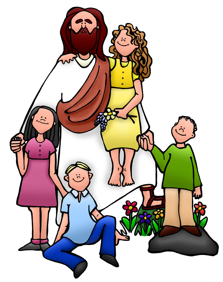 Christian Kids Clip Art Jesus Children Rtdlxrat9jpeg free image.