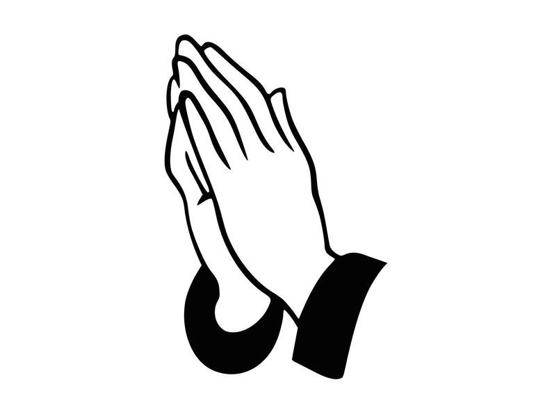 Prayer Svg Praying Svg Praying Hands Cutting File Christian Clipart  Scrapbooking Clip Art SVG DXF Png.