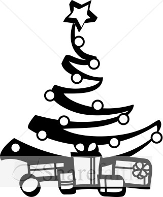 Black And White Christian Christmas Clipart.
