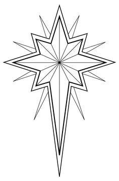 christian symbol black line art for kids.