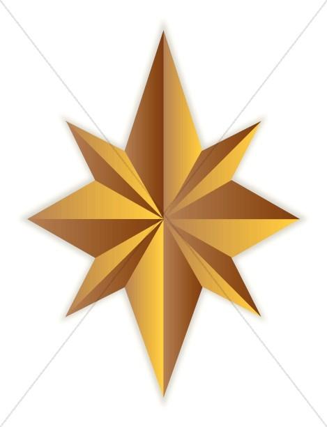 8 Point Gold Star.