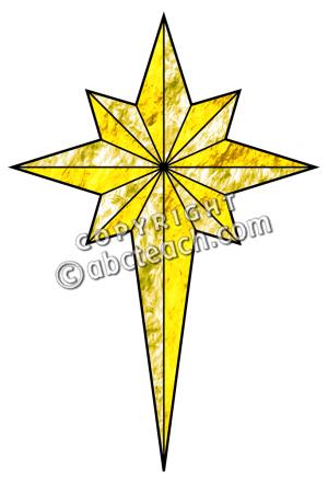 Religious Christmas Star Clipart.