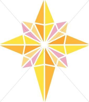 Bright Nativity Star Clipart.