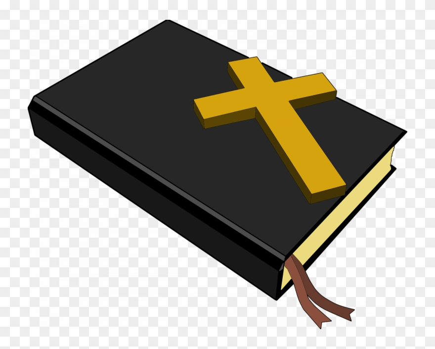 Christianity Bible And Cross Clipart.