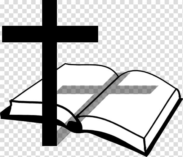 Book and cross illustration, Bible Christian cross Church.