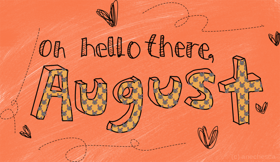 August Texttransparent png image & clipart free download.