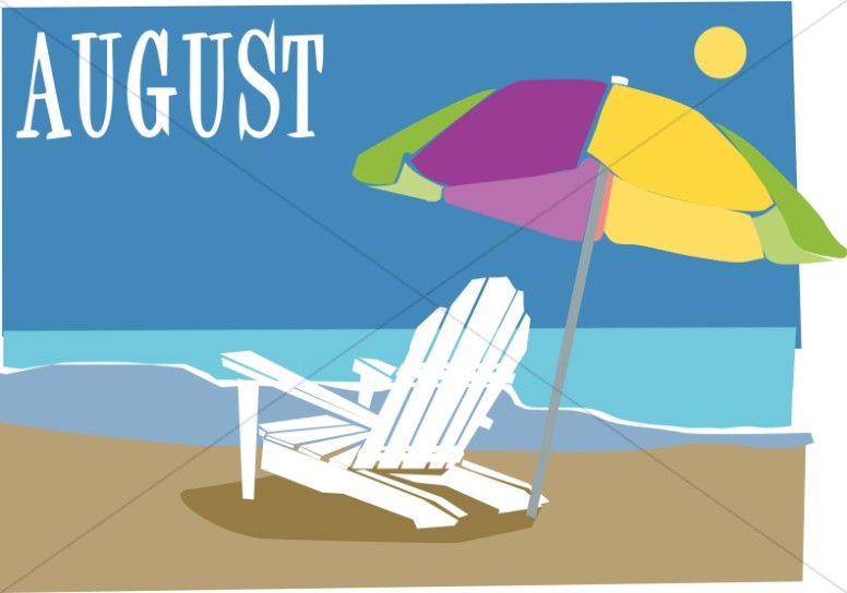 Beach Chair and Ubrella In August.