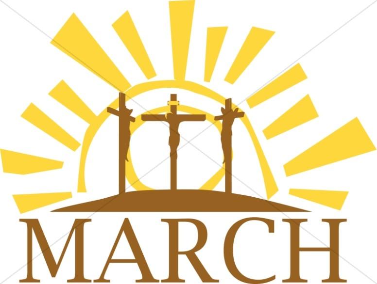 March Calvary Cross Motif.