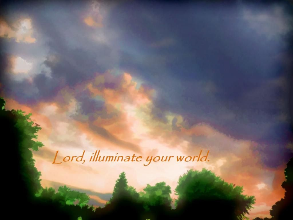 Lord Illuminate Your World Free Christian Quote Clipart Mary.