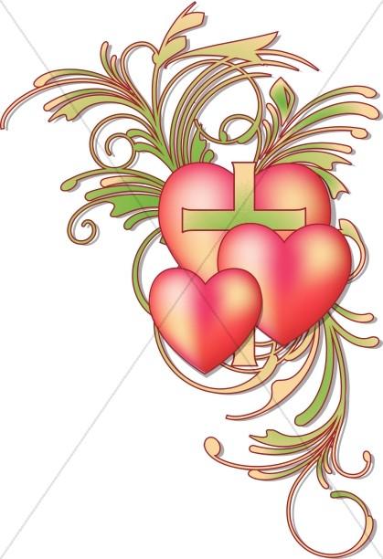Valentines Day Heart Flourish.