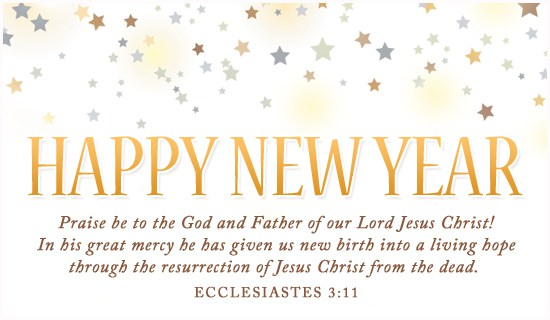 Happy New Year Christian Clipart.