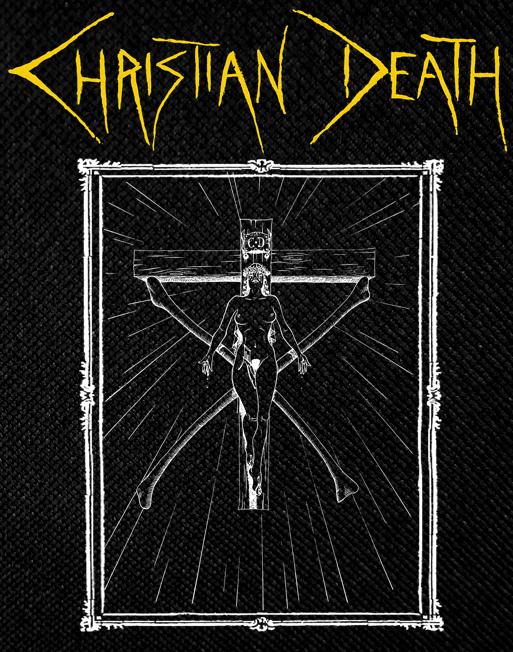 Christian Death Crucifix Backpatch 9x10\
