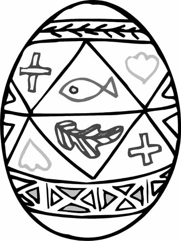 Christian Easter Egg Coloring Pages.