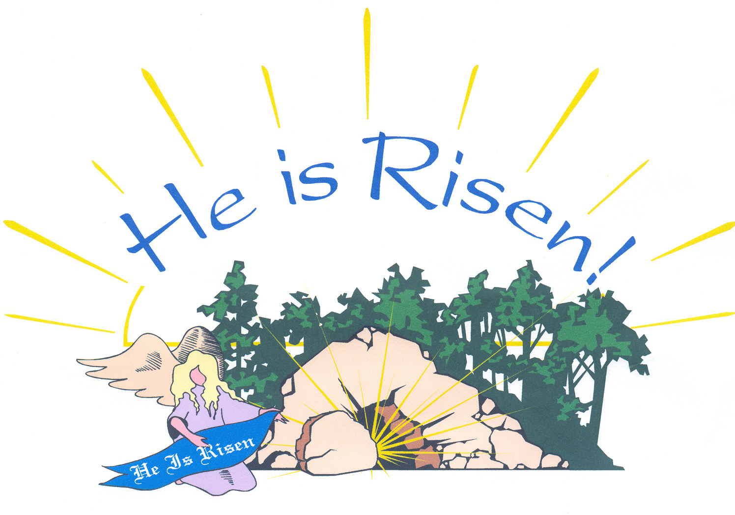 Christian easter sunday clipart.